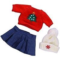 Lovoski 人形 かわいい セーター スカート 帽子  18インチアメリカンガールドール適用 装飾