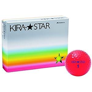 キャスコ(Kasco) ゴルフボール KIRA STAR2 レッド 1ダース(12個入り)