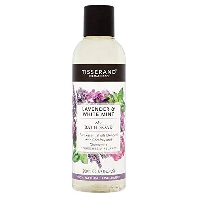 後ろに格差免疫[Tisserand ] ティスランドラベンダー&ホワイトミント風呂は200ミリリットルつかります - Tisserand Lavender & White Mint The Bath Soak 200ml [並行輸入品]