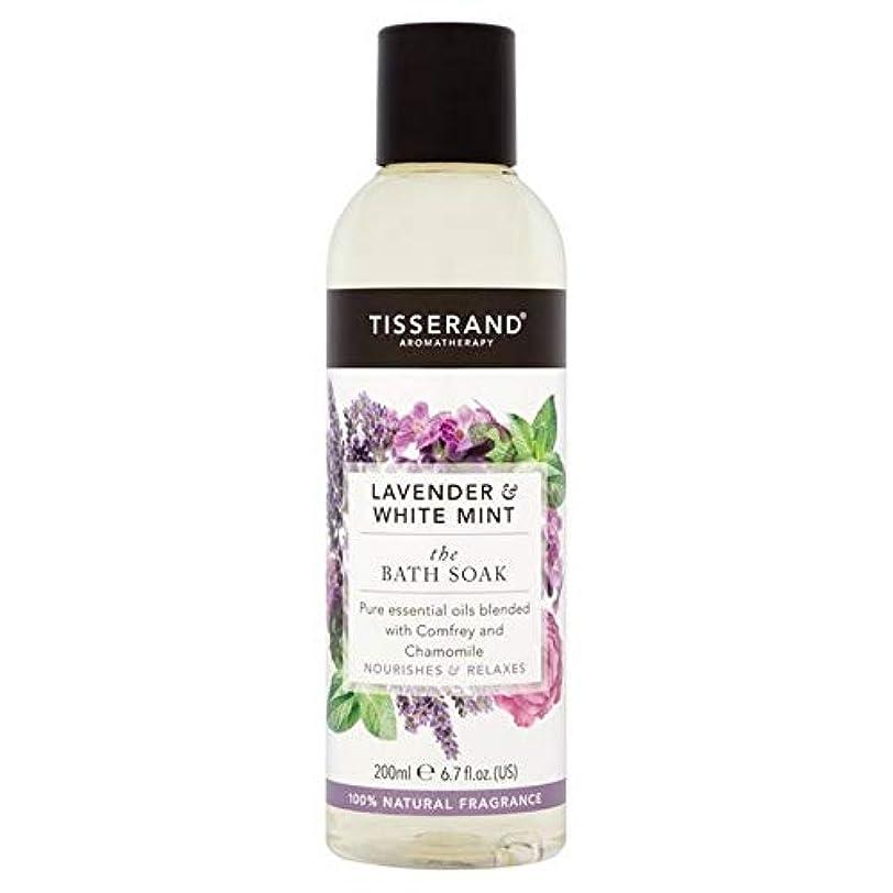 マニュアル家禽どちらか[Tisserand ] ティスランドラベンダー&ホワイトミント風呂は200ミリリットルつかります - Tisserand Lavender & White Mint The Bath Soak 200ml [並行輸入品]