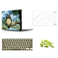 4 in 1 プラスチック PC ハードケースシェル キーボードカバー付き スクリーンプロテクター付き 防塵プラグ付き 旧型MacBook Pro 13インチ(A1278、CD-ROM付き) 2012/2011/2010/2009/2008