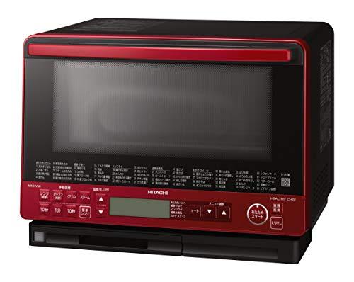 日立 スチームオーブンレンジ 31L トリプル重量センサー 過熱水蒸気 ヘルシーメニュー ワイド&フラット庫内 外して丸洗いテーブルプレート MRO-VS8 R