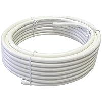 4K8K放送対応 同軸ケーブル S5CFB 10m 両端未加工 ホワイト S5CFB-RMM-10WH
