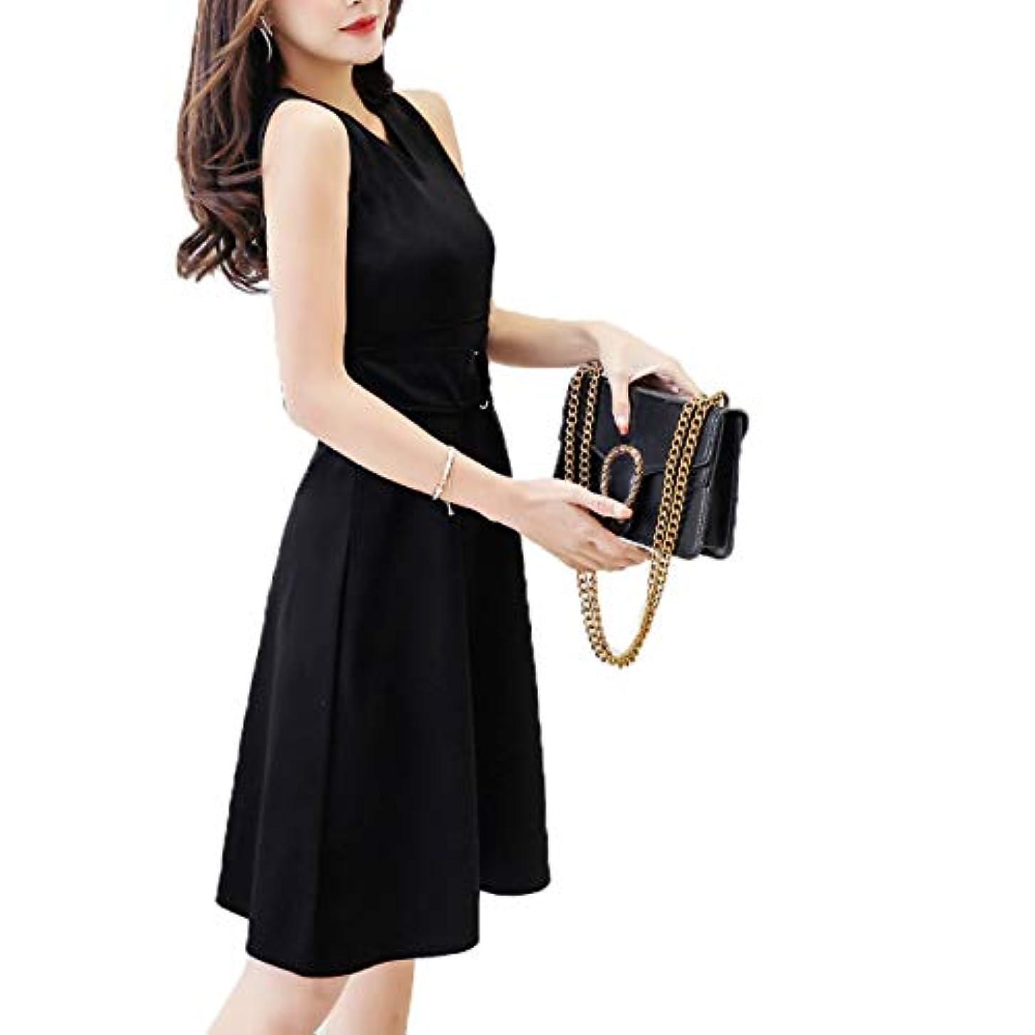 [ココチエ] ワンピース 黒 ノースリーブ おおきいサイズ おしゃれ 冠婚葬祭 ブラックフォーマル パーティ ドレス
