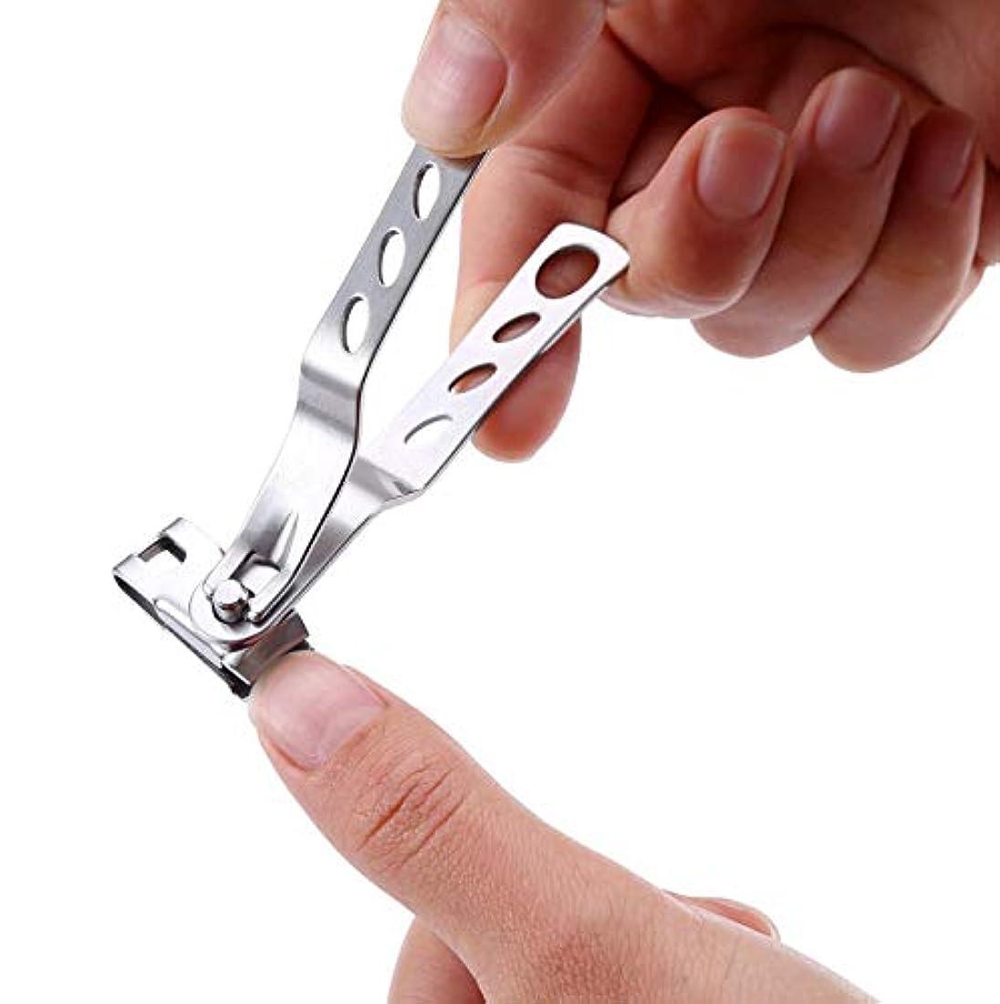 音声ケイ素キャッチFairmall 爪切り ツメキリ ステンレス製 高級つめきりセット 手足はがね ツメキリ 握りやすい 切れ味が良い 飛び散り防止 厚い爪/巻き爪に適用 ネイルケアセット 【2点セット】