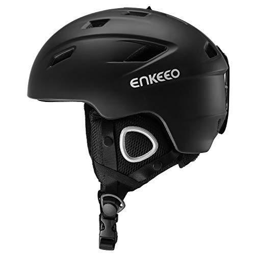 enkeeo スキーヘルメット スノーボードヘルメット 2-in-1 調節自由 通気孔14個 ゴーグル対応 耳当て/裏地付...