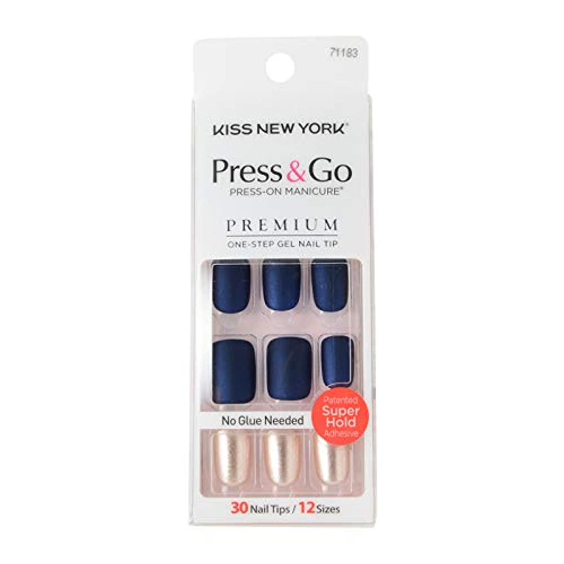 アクセシブル比率スクラッチキスニューヨーク (KISS NEW YORK) KISS NEWYORK ネイルチップPress&Go BIPA020J 19g