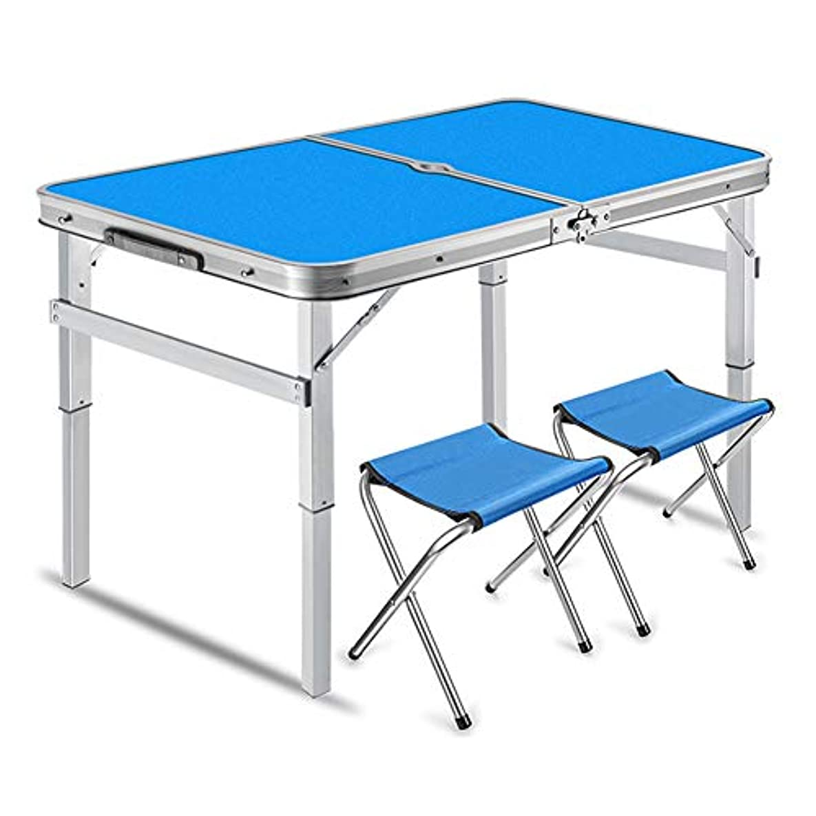 実現可能ラバ眠りNJLC机 折りたたみ、屋外折りたたみ小さなテーブルホームシンプル便利な折畳テーブル,Blue,B