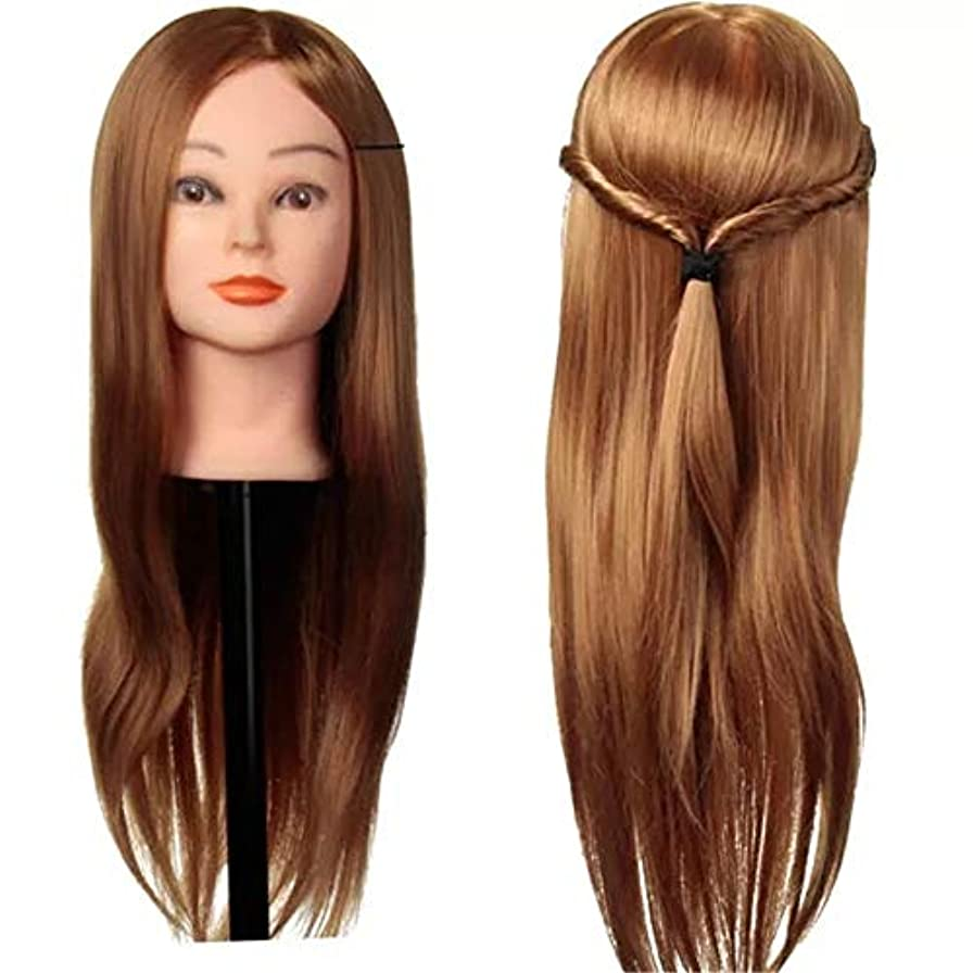 噴水先駆者大胆なマネキンヘッド 編組練習マネキンクランプを切断、30%本物の人間の髪の毛のトレーニング頭 練習用 グマネキンヘッド (色 : ゴールド, サイズ : 56cm)