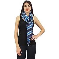 Phagun Women 100% Cotton Lightweight, Shawl, Scarves Shibori Print Long Neck Wrap Scarf-28x72 Inches