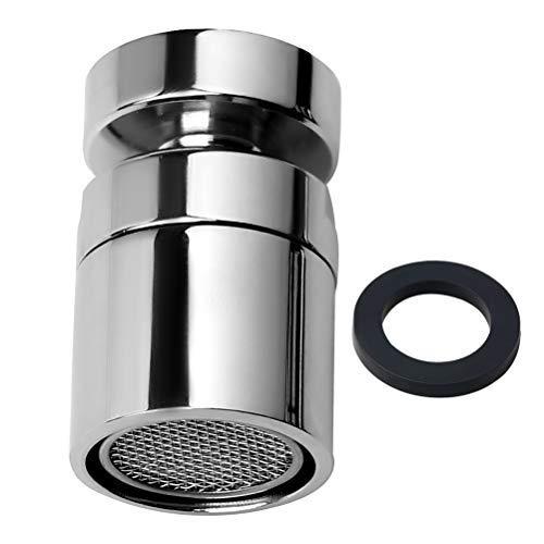Kaitein 蛇口 キッチンシャワー 首振り 360度回転 銅製 節水 水栓泡沫器 キッチン 浴室 トイレ 洗面所