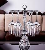 美しい デザイン クリアタイプ ワイングラススタンド グラスホルダー 6個掛用 バレンタイン