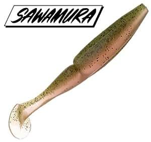 SAWAMURA(サワムラ) ルアー ワンナップシャッド エヴォリューション Real 4インチ 061レインボートラウト
