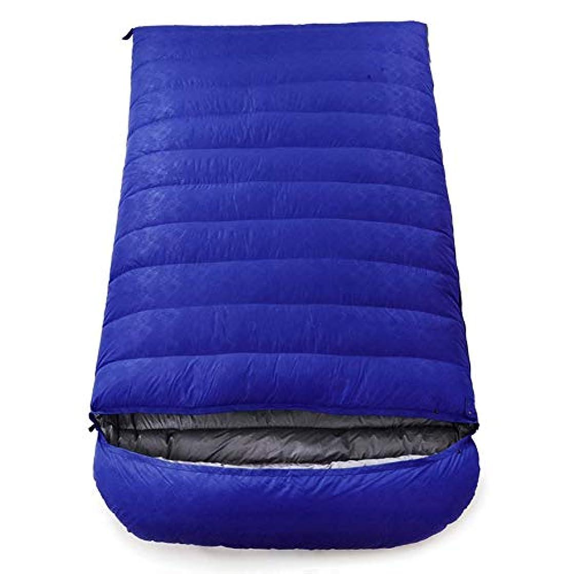 ギネス微視的漂流寝袋、軽量防水睡眠バッグ4シーズンキャンプハイキングポータブル睡眠袋大人2人快適封筒スリーピングパッド,darkblue,3000g