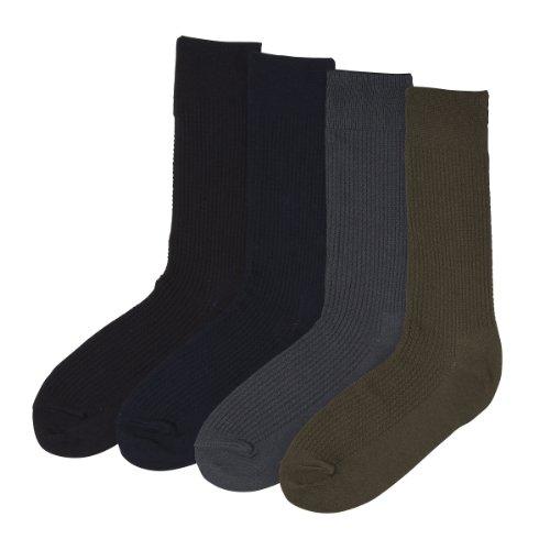 (フランコ コレツィオーニ)Franco Collezioni FC メンズ靴下4足組 HL-91285W 40777  マルチカラー 25~27cm