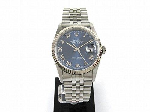 [ロレックス] ROLEX デイトジャスト 腕時計 ウォッチ ブルー K18WG(750)ホワイトゴールド x ステンレススチール(SS) 16234 U番 [中古]