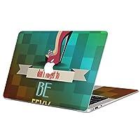 Macbook Pro 15inch 2019/18/17/16 専用スキンシール A1990/A1707 マックブック プロ 15インチ 専用シール フィルム ステッカー アクセサリー 保護 007412 その他 靴 レインボー 英語 文字