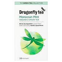 パックあたりの有機20モロッコのミント緑茶20をトンボ - Dragonfly Organic 20 Moroccan Mint Green Tea 20 per pack [並行輸入品]