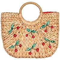 Review Women's Cheeky Cherry Wicker Bag Straw/Multi