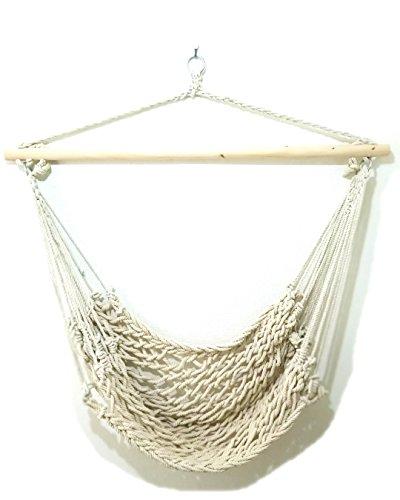 RoomClip商品情報 - おしゃれなアウトドア極太ロープでゆったりハンモック生活!ハンモックチェア (白(太編み)100cm)