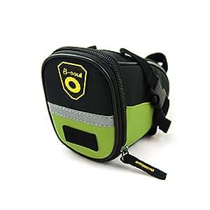 B-SOUL 自転車サドルバッグ シートバッグ 防水 収納バッグ かんたん装着  全6色 (グリーン)