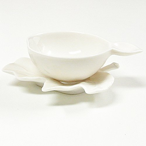 天香茶行『白磁の中国茶器・葫芦茶漉し』