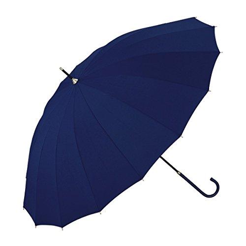 w.p.c(WPC) 【雨傘】16本骨無地/丈夫でシックな印象(レディース/長傘)【ネイビー/55】