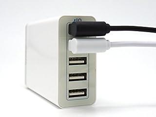 高速充電 対応 両端 ともに L型 の Lightning ライトニング 互換 ケーブル (ブラック 90cm)