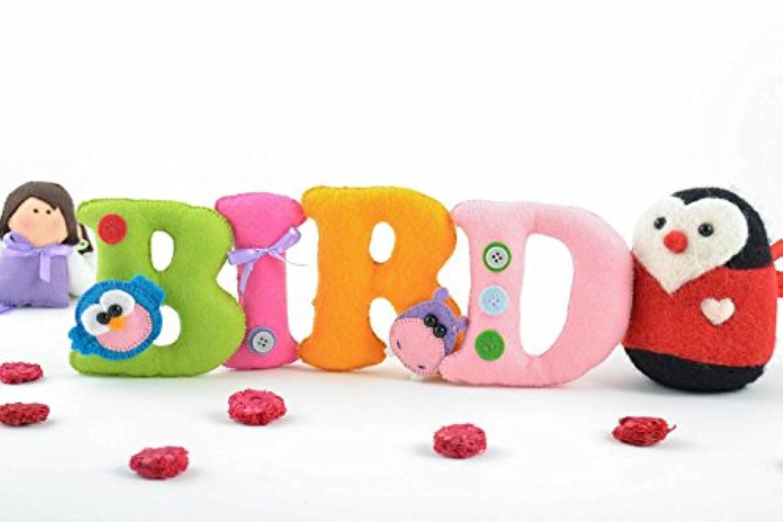 ハンドメイドのセット美しい明るいフェルト生地ソフト文字の装飾鳥