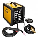 リョービ 半自動溶接機 ノンガス・100V/200V電源兼用 使用率オーバー防止機能付 4段階電流切替スイッチ/ワイヤースピード調節ダイヤル付 SAW-150