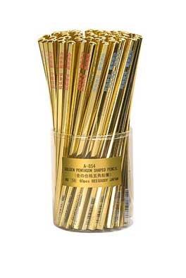 金の合格(五角)えんぴつ 合格鉛筆