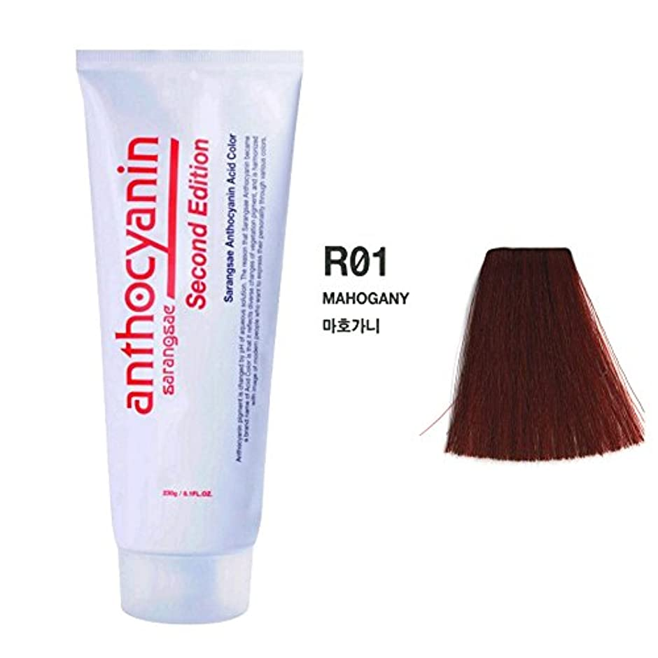 完了ソロ面白いヘア マニキュア カラー セカンド エディション 230g セミ パーマネント 染毛剤 ( Hair Manicure Color Second Edition 230g Semi Permanent Hair Dye) [並行輸入品] (R01 Mahogany)