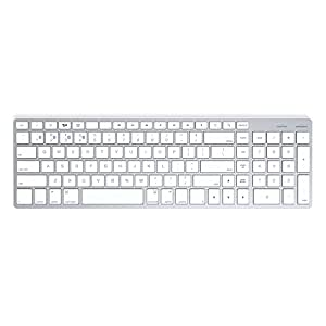 Satechi サテチ Bluetooth ワイヤレススマートキーボード (白 / Mac配列) Wireless Keyboard White ST-BWSKMS