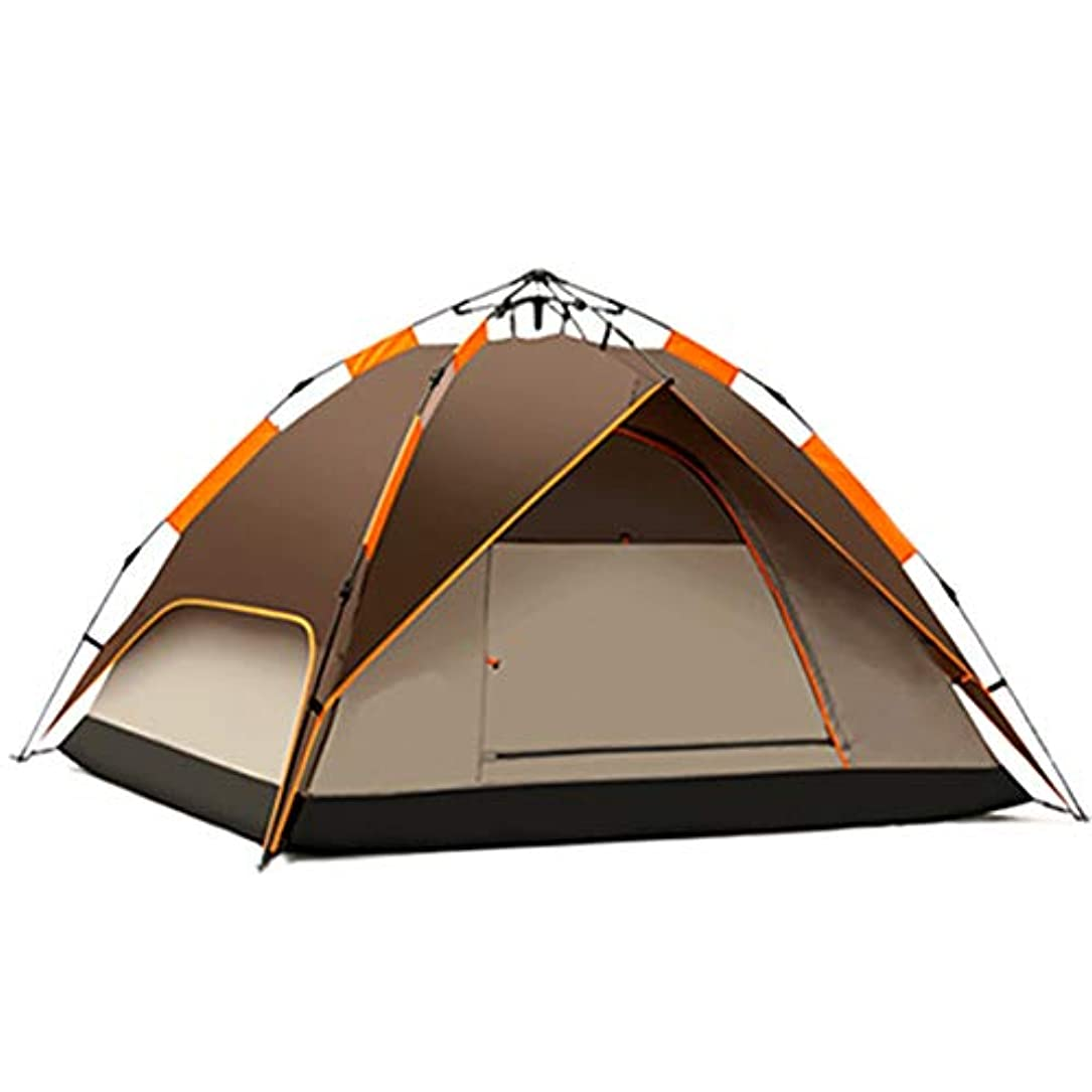猟犬畝間お別れ自動ポップアップキャンプテント3-4人屋外でセットアップしてパッケージ化する防水アンチUV日焼け止め