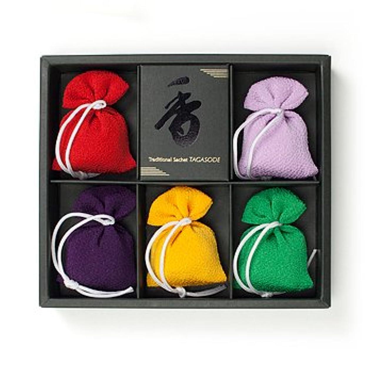 フラフープ秘書おもしろい匂い袋 誰が袖 上品(無地) (色は選べません) 5個入 松栄堂 Shoyeido
