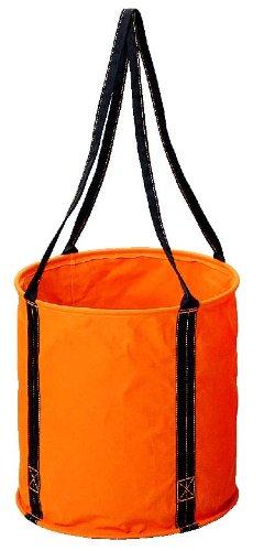 コヅチ(KOZUCHI) 6号防水帆布 大型電工用バケツ オレンジ 直径50×高さ50cm KB-02-50 BOR