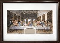 レオナルド・ダ・ヴィンチ 最後の晩餐 A4 ポスター 輸送用 額付き ホビー おもちゃ 名画 絵画 グッズ