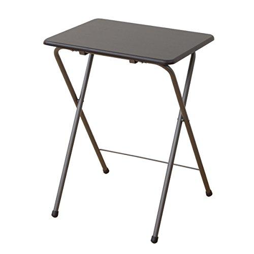 山善(YAMAZEN) テーブル ミニ 折りたたみ式 サイドテーブル 幅50×奥行48×高さ70cm ハイタイプ ミドルブラウン YST-5040H(MBR/MBR)