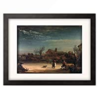 レンブラント・ファン・レイン Rembrandt Harmenszoon van Rijn 「Winter landscape」 額装アート作品
