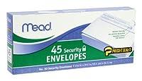 """Mead 75026Press ItシールItセキュリティ封筒、4.12"""" X 9.5インチ、45カウント、ホワイト( Pack of 24)"""