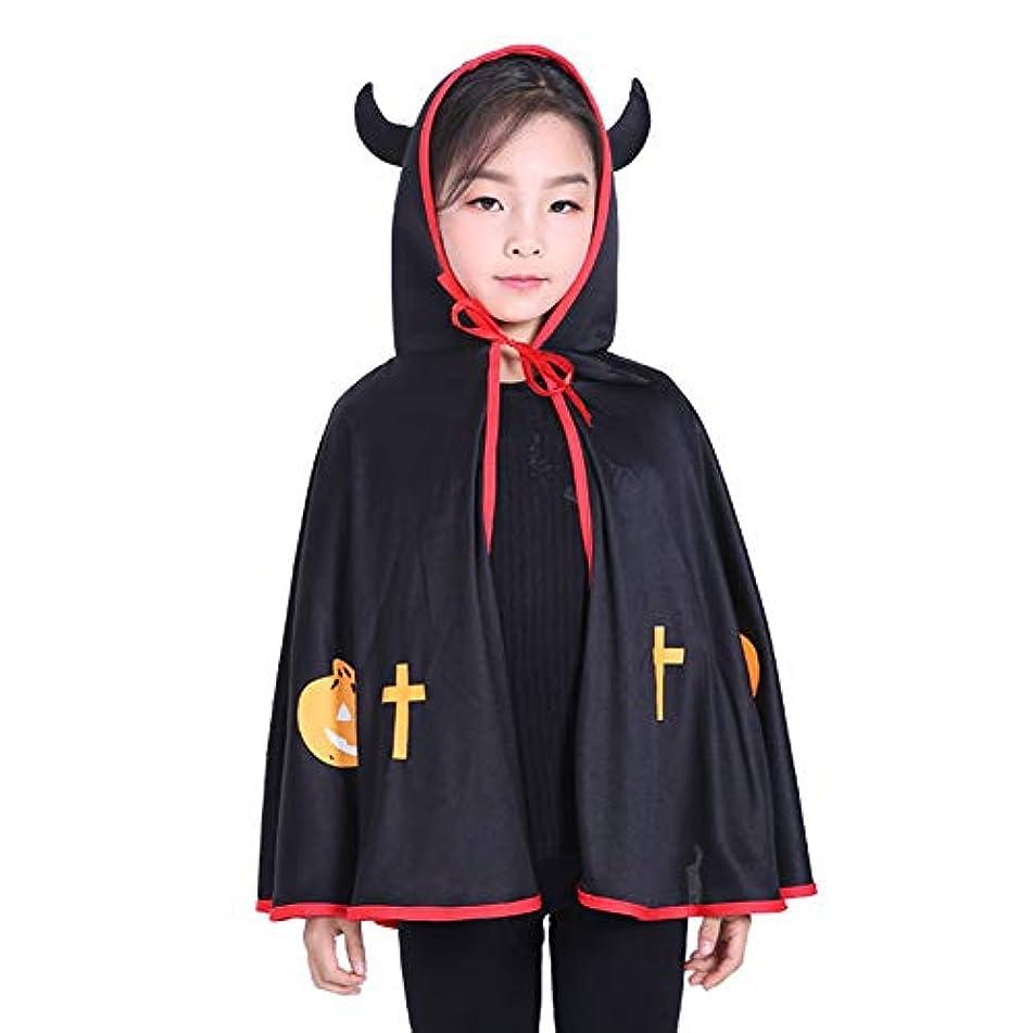メディカル時計固有のRuikey ハロウィン カボチャクローク フード付きマント 悪魔 コスプレ 衣装 コスチューム 仮装 シンプル パーティ 子供 大人 文化祭  学園祭