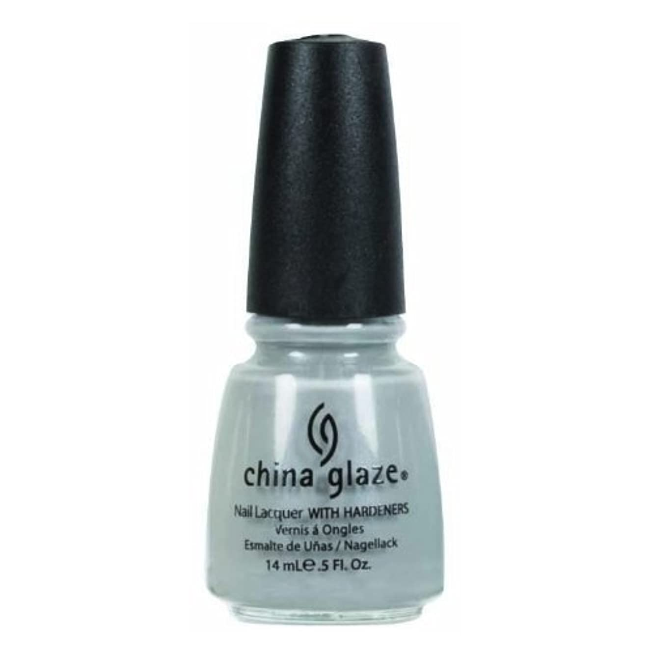 マリン誰の規則性CHINA GLAZE Nail Lacquer - Anchors Away - Pelican Gray