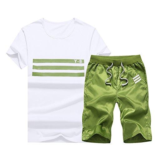 ジャージ ルームウェア 大きいサイズ 上下セット 半袖 tシャツ トップス メンズ 部屋着 スウェット パーカー セットアップ ロゴ アメカジ カジュアル 薄手 ショートパンツ ショーツ ボトムス 2点セット