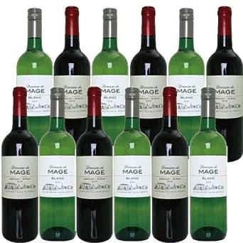 ドメーヌ デュ マージュ ブラン白 x6 メルロ・シラー赤x6 赤ワイン白ワイン計12本セット 1200円/本