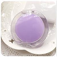 HuaQingPiJu-JP ミニラウンドシンプルなキャンディー小さなガラスの鏡サークル工芸装飾化粧品アクセサリーパープル