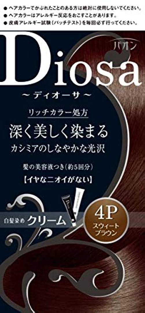 フィードオン維持抵抗パオン ディオーサ クリーム 4P スウィートブラウン 40g+40g 髪の美容液10g