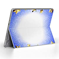 Surface go 専用スキンシール サーフェス go ノートブック ノートパソコン カバー ケース フィルム ステッカー アクセサリー 保護 クール 星 立体 青 002206