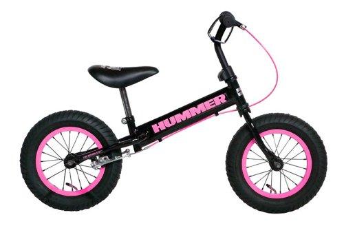 HUMMER(ハマー) 12.5インチ 幼児/子供用トレーニングバイク 【専用スタンド付き】 ピンク...