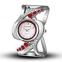 女性用腕時計 バングルウォッチ クォーツクリスタル腕時計 高級ラインストーンファッションレディースウォッチ