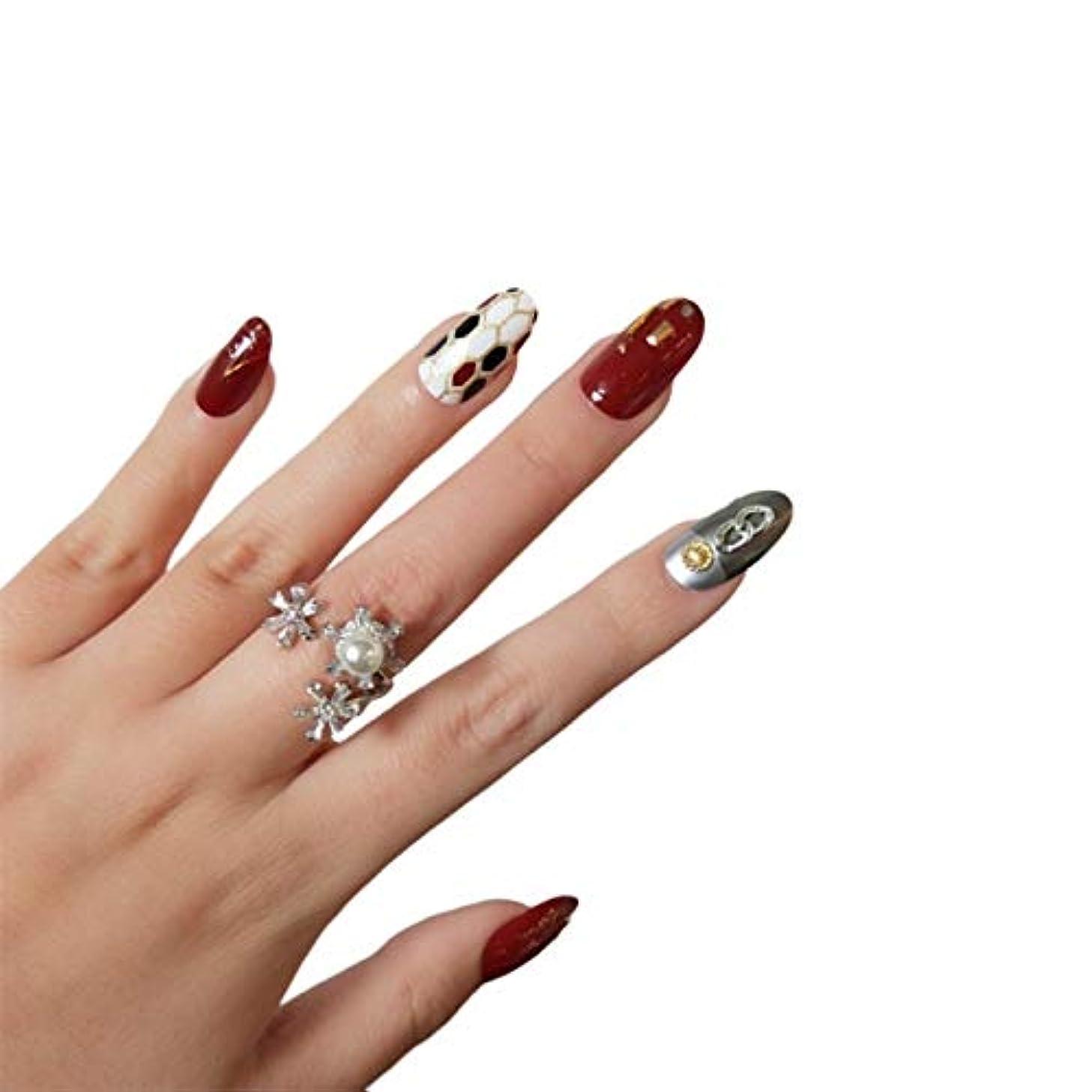 アラビア語吸う単なるNANNAN ネイルチップ ネイルチップ つけ爪 付け爪 つけ方簡単 ネイル デコネイルコレクション シール ハロウィン 母の日 パーティ 人気 毎日変身 24枚セット